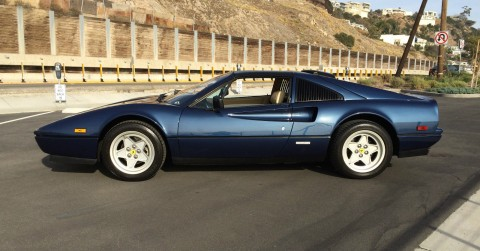 1986 Ferrari 328 GTS   rare blue sera color for sale