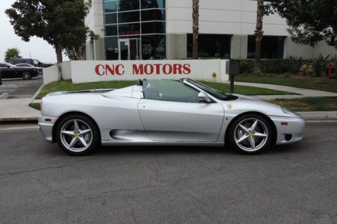 2001 Ferrari 360 Spider Silver Black for sale