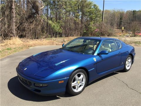 1995 Ferrari 456 Stunning Blue Chiaro Metallic over cream for sale